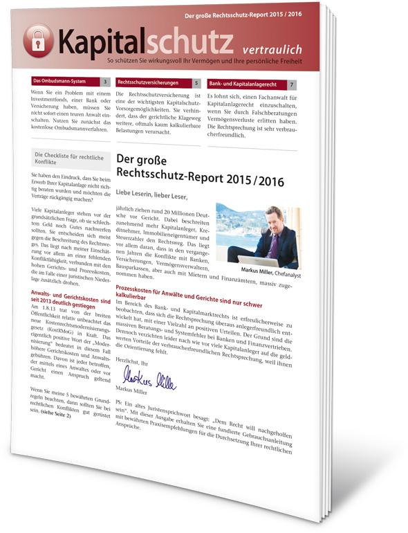 Kapitalschutz vertraulich - Rechtsschutz-Report